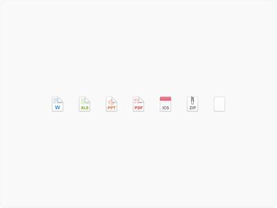 Nylas N1 - Filetype icons mini icon zip ics pdf ppt xls doc icons files filetype