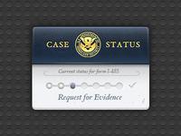 USCIS Case Tracker Widget