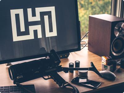 Product H monogram film desk workspace surface photography camera producth h product secret