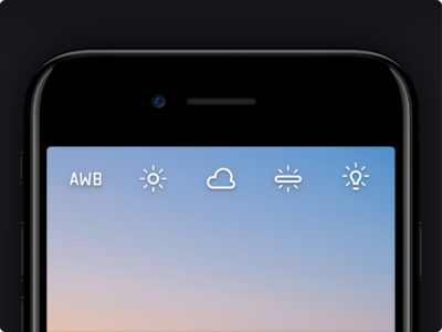 Halide: Whitebalance Icons bulb ui ios iphone camera awb whitebalance sun balance white