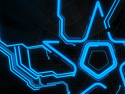 XI personal star glow hud circuits stuff black blue
