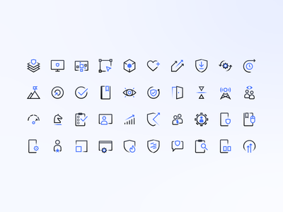 Secure Group Icon Set graphic design graphic branding brand icon design icons iconography