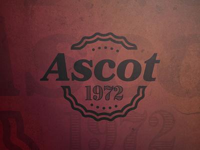 Ascot typography logoinspiration designer adobe illustrator cc graphicdesign branding logodesign design vector illustration logo