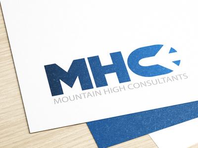 Mountain High Consultant - MHC Logo design logoinspiration designer typography graphic flatdesign graphicdesign branding logodesign illustration design vector logo