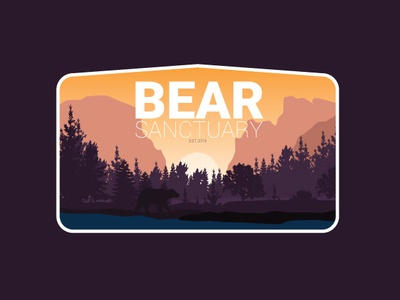 Bear Danctuary typography ux ui logoinspiration flatdesign designer illustrator cc graphicdesign branding vector logodesign illustration design logo