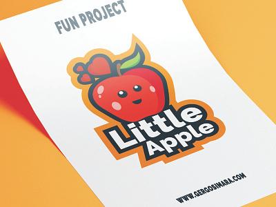 LittleApple graphic mascot illustrator cc adobe flatdesign illustration graphicdesign vector design