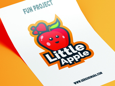 LittleApple graphic mascot illustrator cc adobe flatdesign illustration graphicdesign vector design