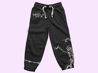 Death is near merch design clothing cloth branding graphic design