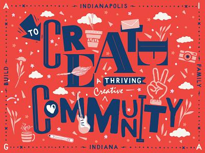 AIGA Indy Mission abstract illustration aiga community