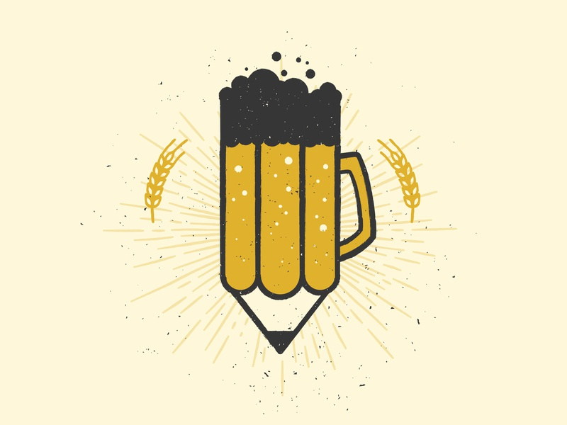 Crafting Beer Logo drawing pencil beer icon illustration