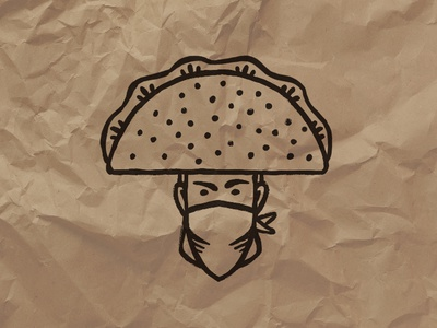 Taco Bandit Icon Mark (To-Go Box Stamp)