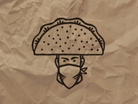 Taco Bandit Icon Mark (To-Go Box Stamp)