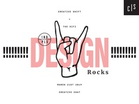 'Design Rocks' Event Branding + Promotion