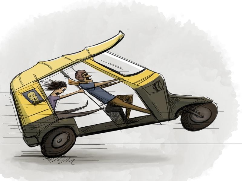 Rickshaw art ui color rickshaw sketchbookpro illustration design