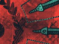 Wreath + Swords
