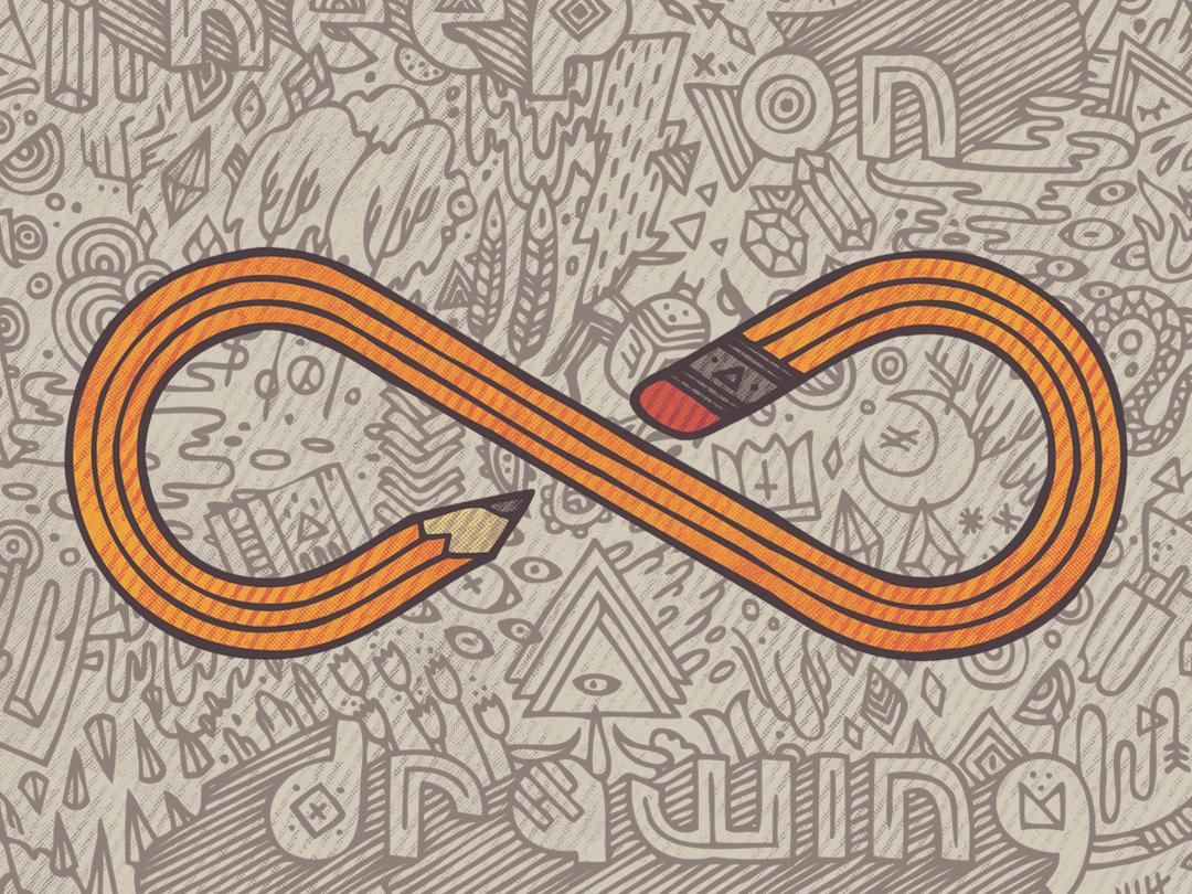 Always tshirtdesign pencil drawing doodle pencil sketch infinite illustration pencil