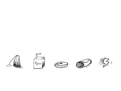 small café icons comp 1 illustration sketch work in progress icons café