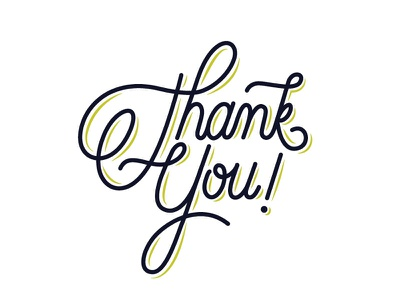 Thank You lettering hand lettering script typography