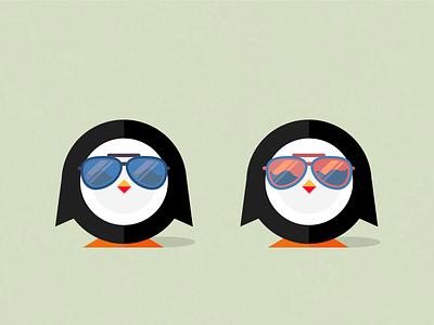 Shady Penguins logo illustrator penguin frisbee animal vector
