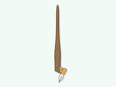 Oblique Calligraphy Pen calligraphy pen oblique nib vector illustration