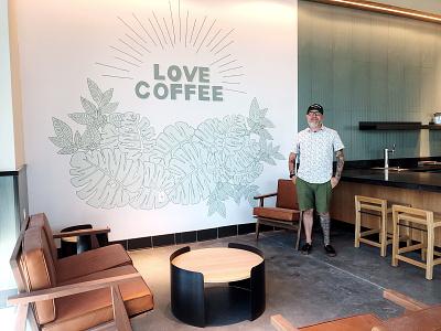 Starbucks | Wall Art | Lakeland Fl coffee art minimalist wallart murals mural bumpgalletta coffee starbucks