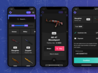 Web shop selling CS:GO skins