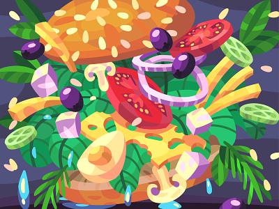 Tasty food food tasty illustration art vector design