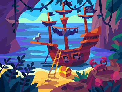 wildlife digital cartoon illustration art vector design