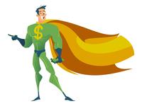 MoneyHero Vector Cartoon Character