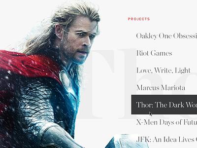 Portfolio 2015 Menu Concept portfolio website book menu web image responsive overlay chronicle benton sans