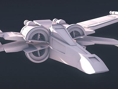 Poe's X-Wing 3d c4d cinema space kylo snoke ship x-wing bb8 poe wars star