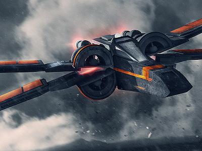 X-Wing Progress space fighter ren kylo snoke ship vader x-wing bb8 poe wars star