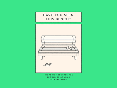Have you? poster outside bench quarantine isolation covid vector illustration