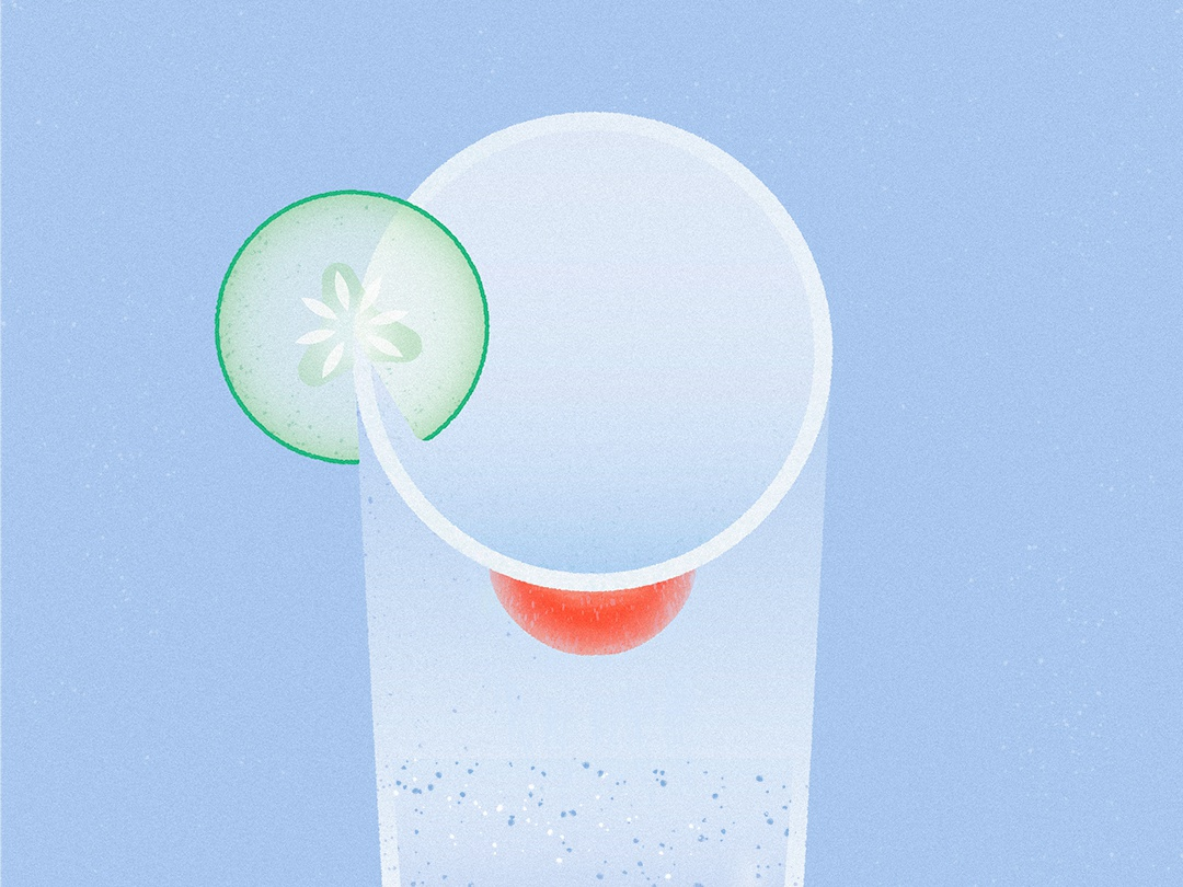 Water Glass vector illustration