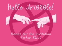 Dribbble Invitation: Thanks to Farhan Rizvi