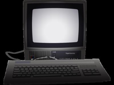 old computer illustrator vector old retro keyboard monitor computer