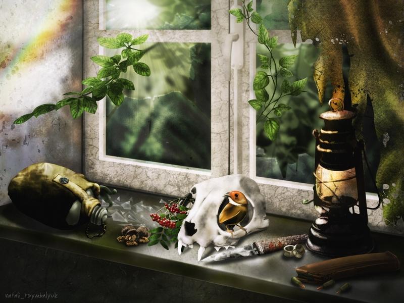 stalker натюрморт фотошоп иллюстрация игра survarium