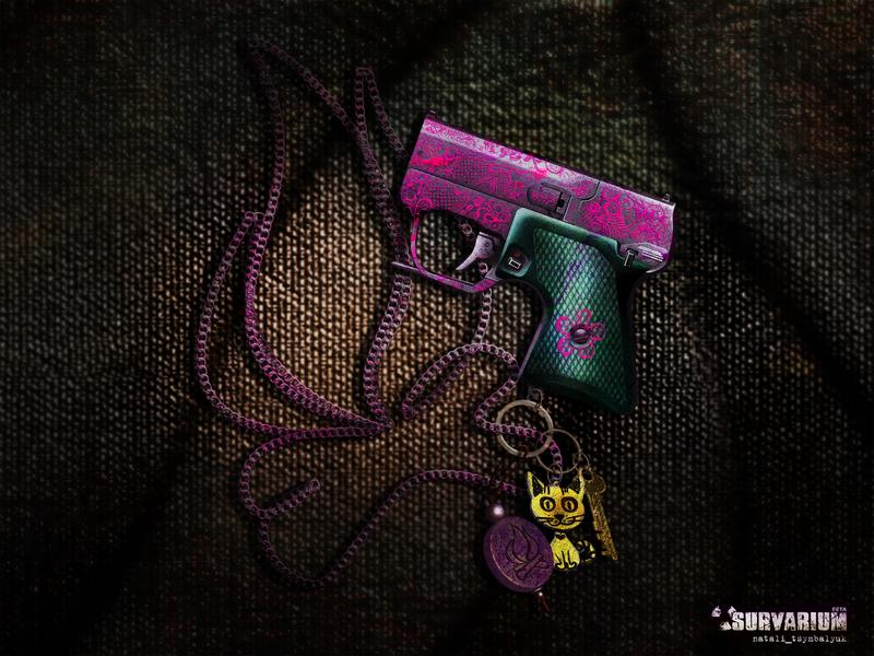 Survarium girl game фотошоп иллюстрация survarium children female informal emo pink gun