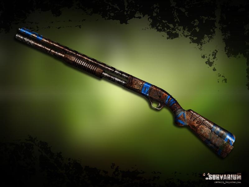 МР-133 концпт винтовка дробовик помповый оружие pumpguns shotgun игра фотошоп иллюстрация survarium