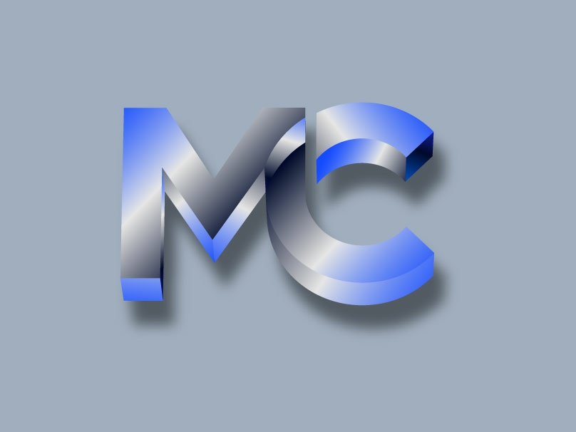MERCA CONSULTING minimal logotype designer logo designer flat 3d brand typography design logo branding