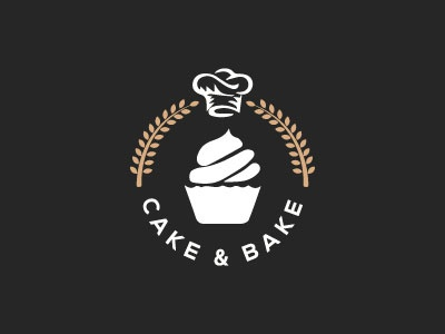 Branding icon minimal vector logo typography logotypes corporate business card food corporate cake  bake bakery branding logotype designer logo designer