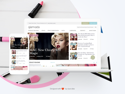 Beauty Products Review Website User Research and Website Design website beauty glamour usercible responsive mobile website ui user research ux websitedesign