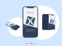 iPhone X Mockup PSD with smart objects