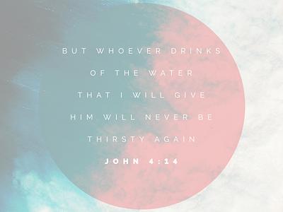 John 414 Dribbble inspiration verse ocean scripture