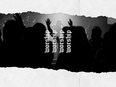 Ready To Worship torn paper paper torn social media church design church worship