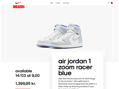 Nike sneakers product page simple webshop ecommerce product page nike sneakers nike shoes sneakers nike