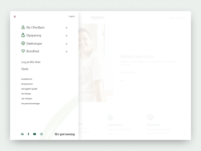 PenSam Exploration - Navigation burger menu menu design menu navigation