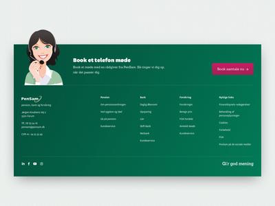 PenSam Exploration - Footers navigation explortation footers footer menu footer design footer