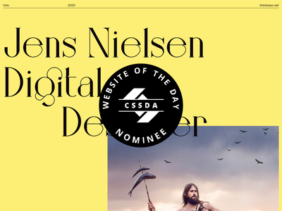 Think.net - site of the day nominee css design awards site of the day
