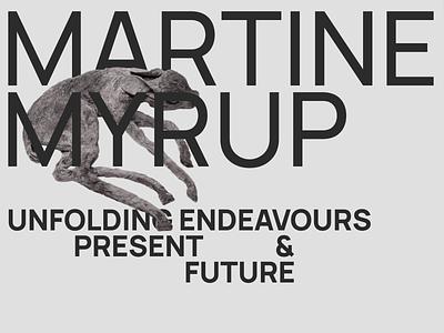 Martine Myrup - Portfolio swiss design swiss style swiss font typography project frontpage project page projects artist portfolio